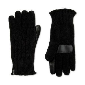 ISOTONER Touchscreen Chenille Cable-Knit Gloves